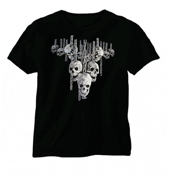 Hanging Out Wicked Skull Short Sleeve T-Shirt - Metalhead Art & Design, LLC