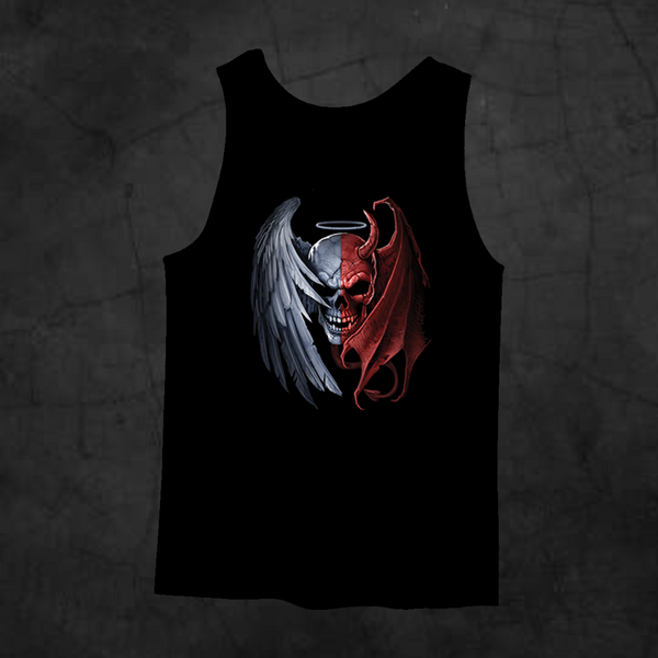 HEAVEN AND HELL TANK TOP - Metalhead Art & Design, LLC