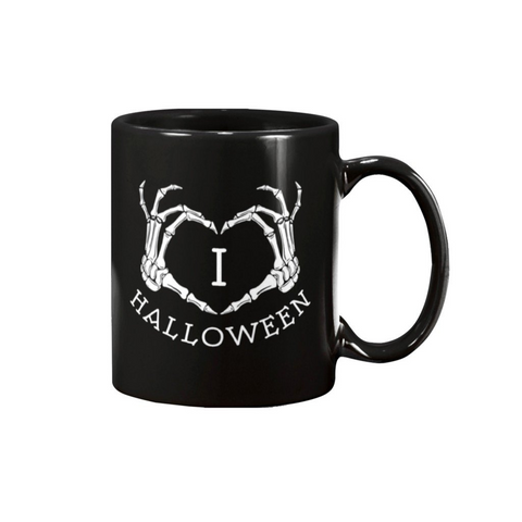 I LOVE HALLOWEEN MUG - Metalhead Art & Design, LLC