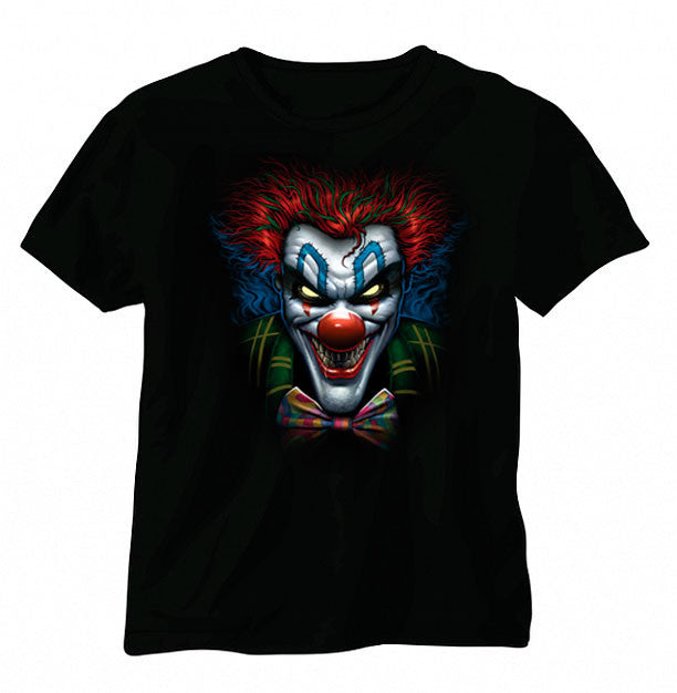 Joker Killer Clown Shirt Sleeve T-shirt - Metalhead Art & Design, LLC