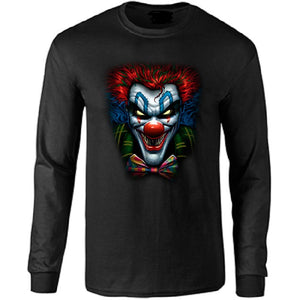 Joker Killer Clown Long Sleeve T-shirt - Metalhead Art & Design, LLC