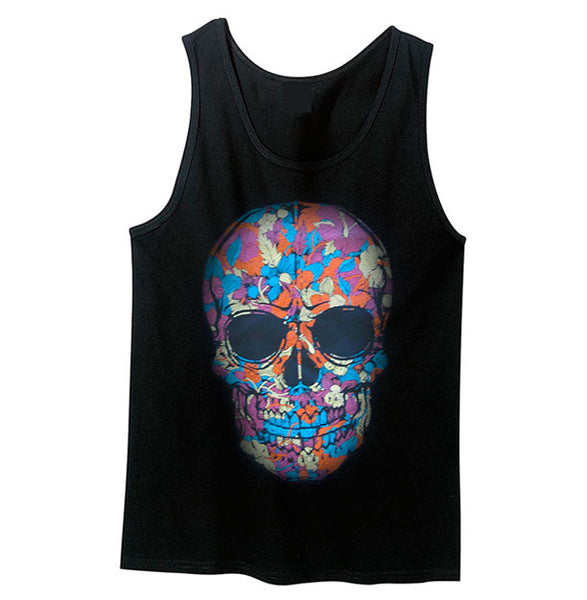 Jungle Fever Skull Tank Top - Metalhead Art & Design, LLC