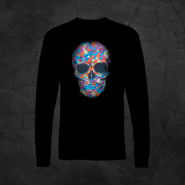 JUNGLE SKULL - LONG SLEEVE - Metalhead Art & Design, LLC