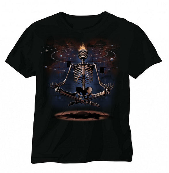 Skeleton Meditation Short Sleeve T-shirt - Metalhead Art & Design, LLC
