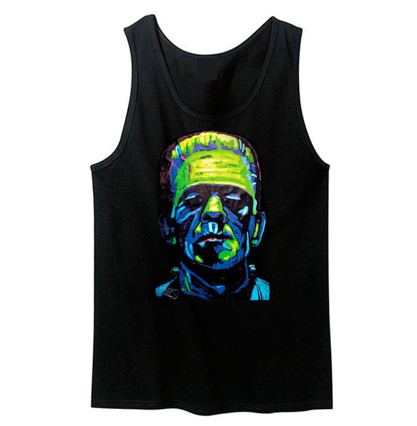 Neon Frankenstein Tank Top - Metalhead Art & Design, LLC