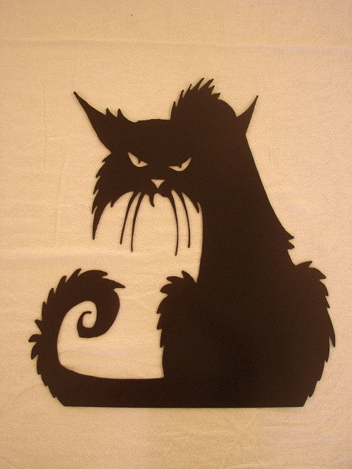 Old Spooky Witch\'s Cat CNC Plasma Metal Wall Sculpture – Metalhead ...