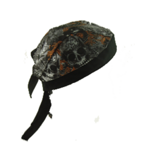 Skull and Spider Biker Skull Doo Rag - Metalhead Art & Design, LLC