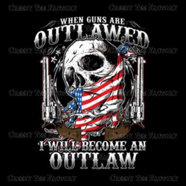 OUTLAWED SKULL - Metalhead Art & Design, LLC