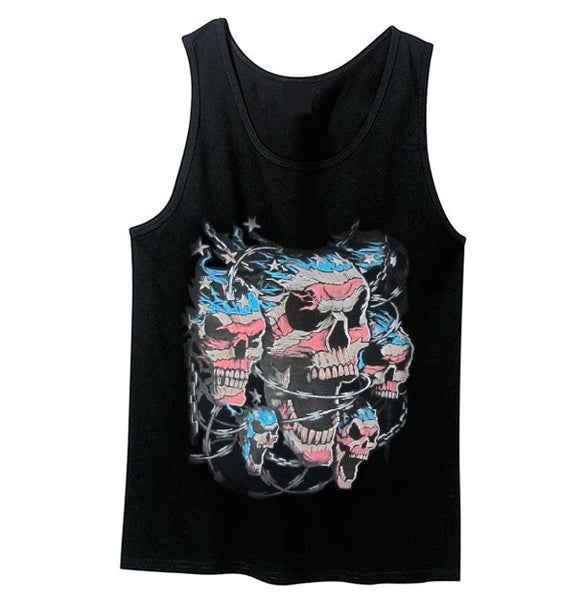 Patriotic Skulls Tank Top - Metalhead Art & Design, LLC