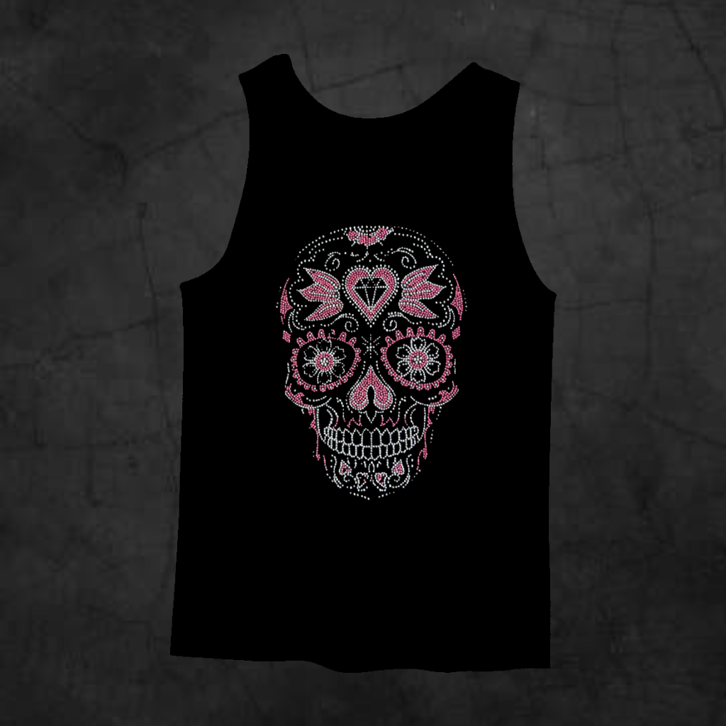 PINK SUGAR SKULL TANK TOP - Metalhead Art & Design, LLC