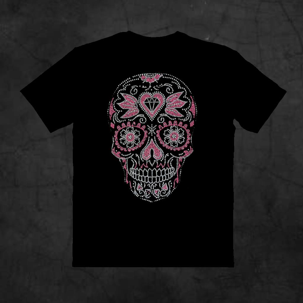 PINK SUGAR SKULL - Metalhead Art & Design, LLC
