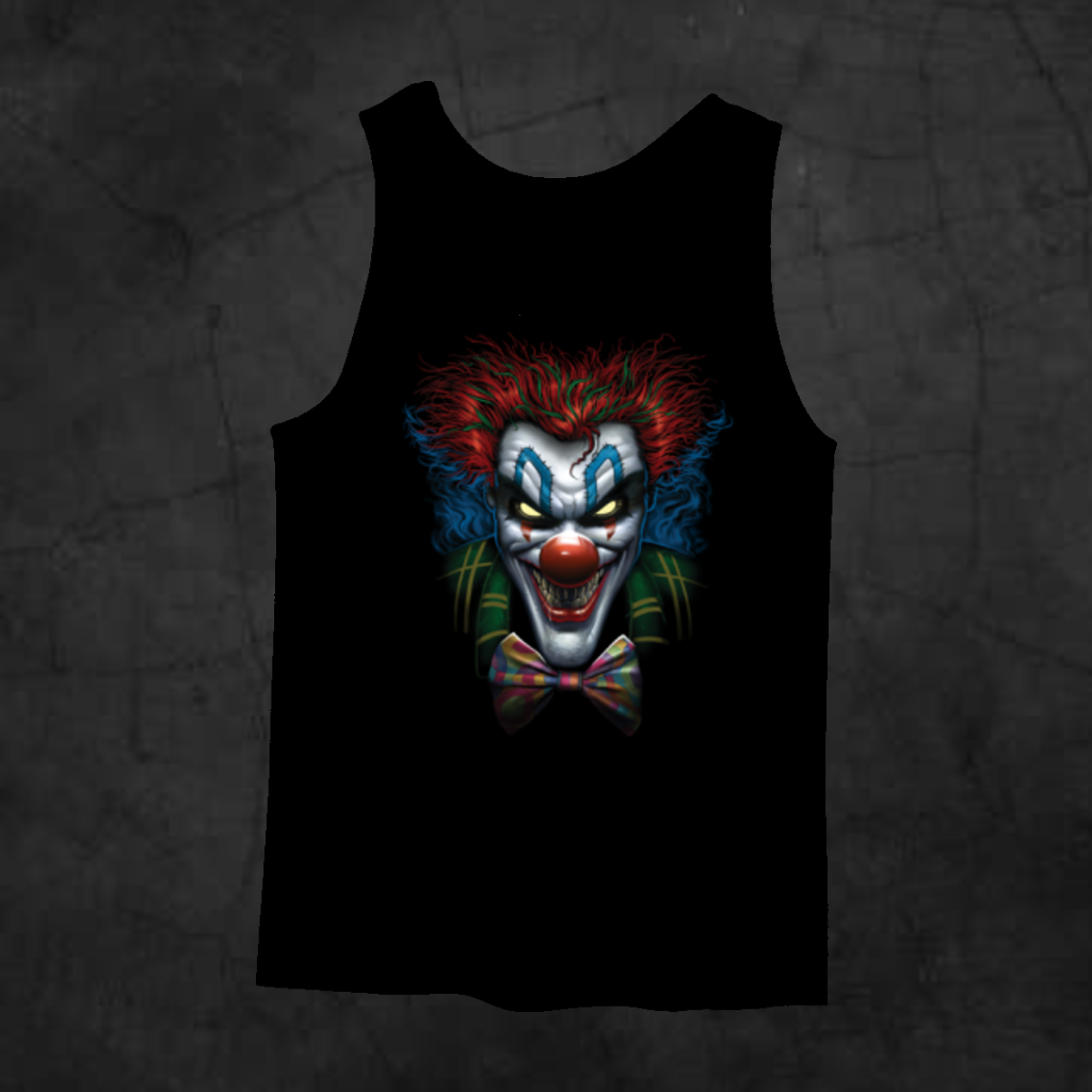 PSYCHO CLOWN TANK TOP - Metalhead Art & Design, LLC