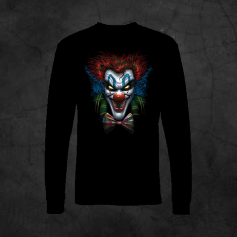PSYCHO CLOWN - LONG SLEEVE - Metalhead Art & Design, LLC