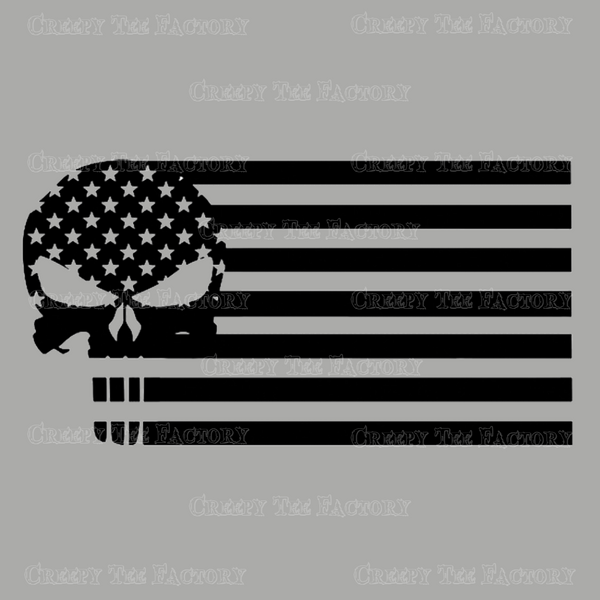 PUNISHER FLAG - Metalhead Art & Design, LLC