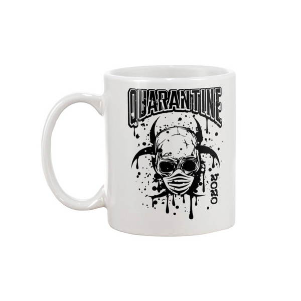 QUARANTINE 2020 SKULL MUG - Metalhead Art & Design, LLC