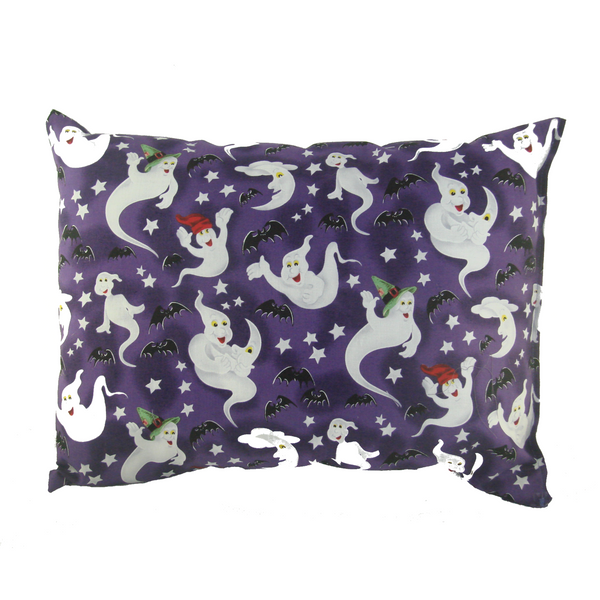 Retro Ghost and Bat Throw Pillow - Metalhead Art & Design, LLC