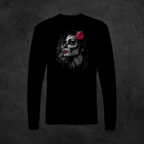 ROSE GIRL - LONG SLEEVE - Metalhead Art & Design, LLC