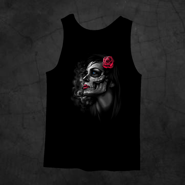 ROSE GIRL TANK TOP - Metalhead Art & Design, LLC