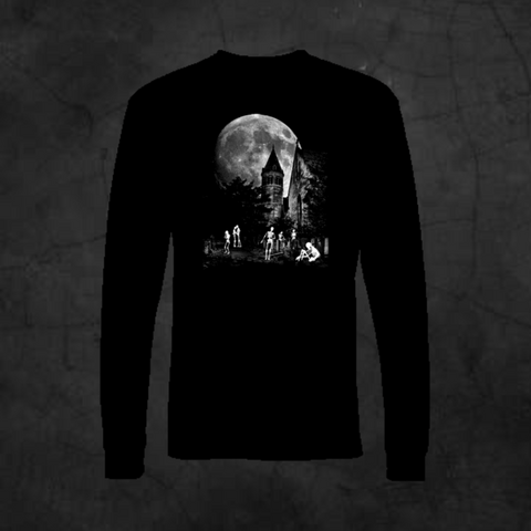 SKELETON CEMETERY - LONG SLEEVE - Metalhead Art & Design, LLC