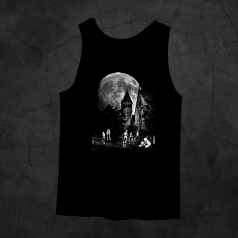 SKELETON CEMETERY TANK TOP - Metalhead Art & Design, LLC