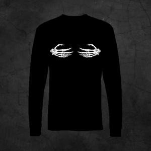 SKELETON HANDS - LONG SLEEVE - Metalhead Art & Design, LLC