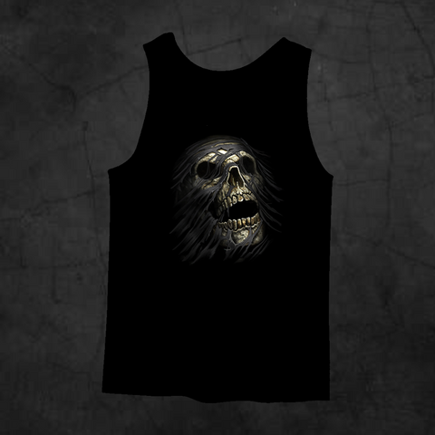 TEAR AWAY SKULL TANK TOP - Metalhead Art & Design, LLC
