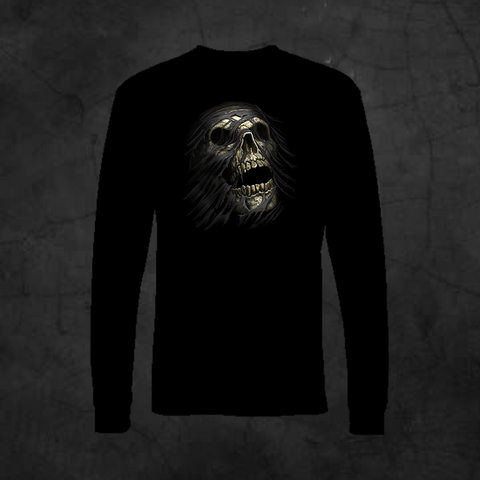 TEAR AWAY SKULL - LONG SLEEVE - Metalhead Art & Design, LLC