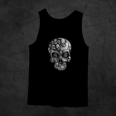 SKULLS IN SKULL TANK TOP - Metalhead Art & Design, LLC