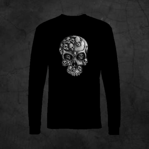 SKULLS IN SKULL - LONG SLEEVE - Metalhead Art & Design, LLC