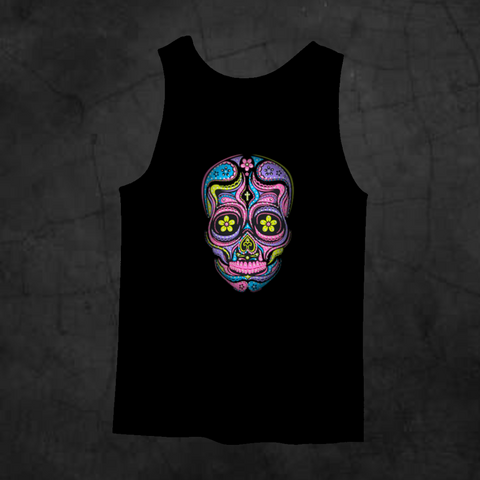 SUGAR SKULL NEON TANK TOP - Metalhead Art & Design, LLC