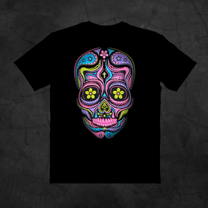 SUGAR SKULL NEON - Metalhead Art & Design, LLC