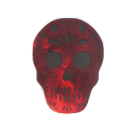Sugar Skull Steel Trailer Hitch Cover - Metalhead Art & Design, LLC