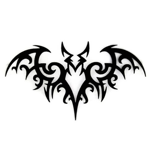 Tribal Bat CNC Plasma Metal Wall Sculpture - Metalhead Art & Design, LLC