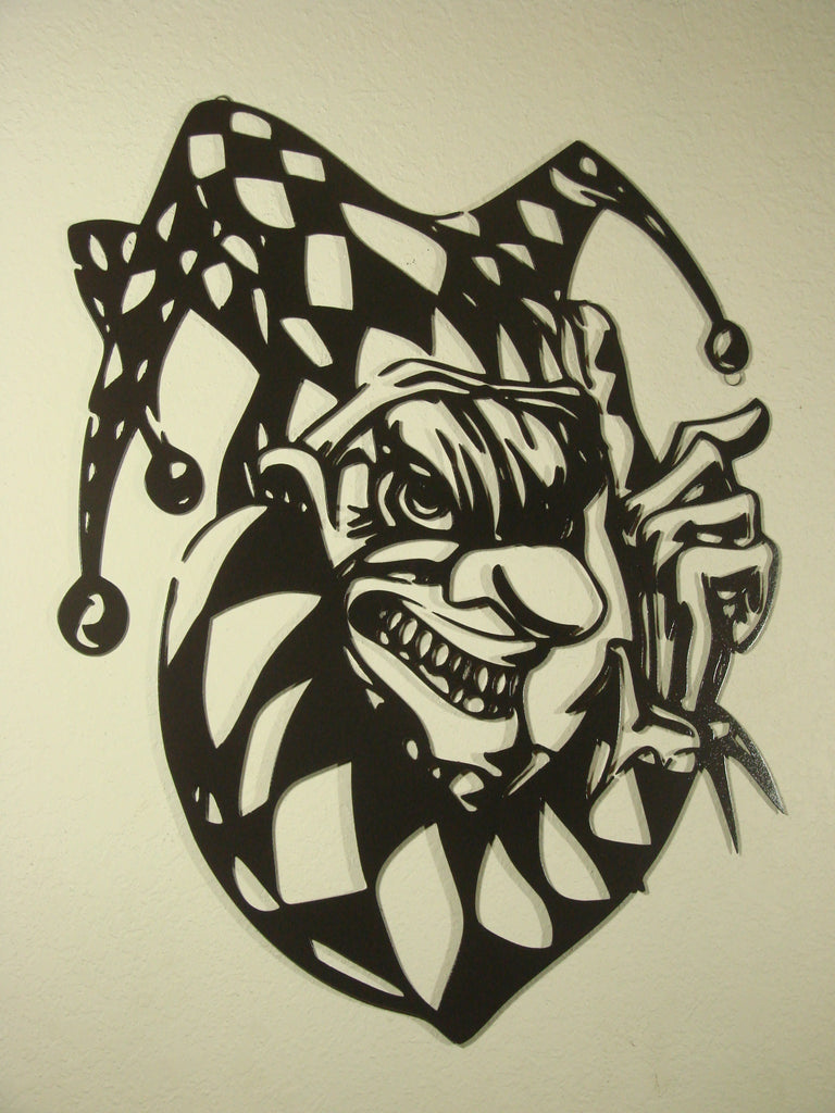 Wicked Jester CNC Plasma Cut Metal Wall Sculpture - Metalhead Art & Design, LLC