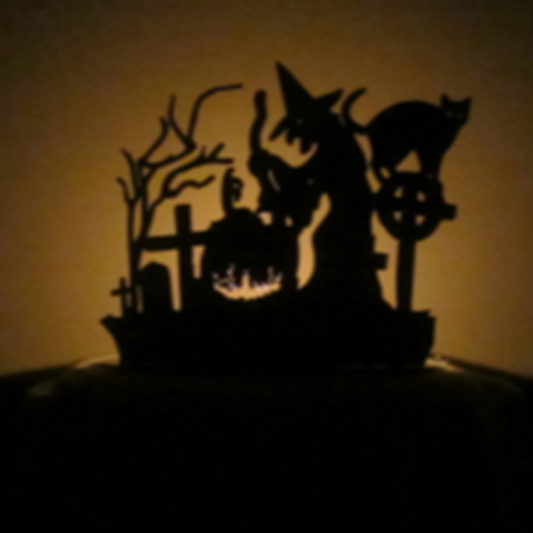 Witch's Brew Halloween Tea Light Holder - Metalhead Art & Design, LLC