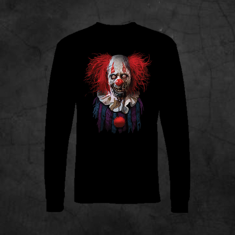 ZOMBIE CLOWN - LONG SLEEVE - Metalhead Art & Design, LLC