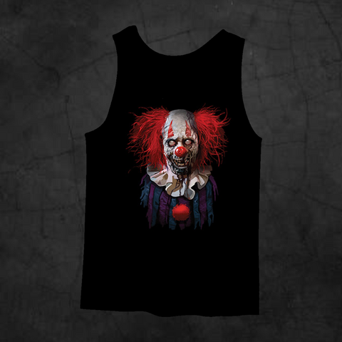 ZOMBIE CLOWN TANK TOP - Metalhead Art & Design, LLC