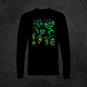 ZOMBIE PILE - LONG SLEEVE - Metalhead Art & Design, LLC