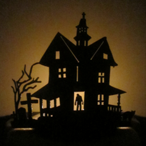 Zombie Haunted Tea Light House - Metalhead Art & Design, LLC