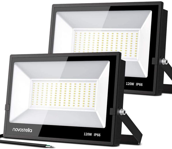 120w 3000K Flood Light Black Industrial series