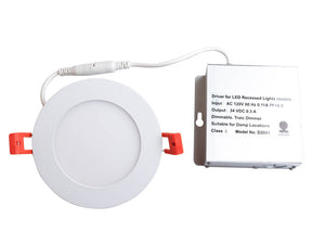 "4"" LED Fixed Recessed Down Light-13W-3000K dimmable"