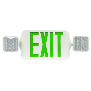 LED Exit-Emergency Light Combo-Square Head-73034