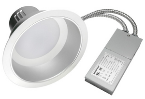 "8"" 27W LED recessed can lights with an aluminum h ..."