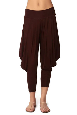 Simplicitie Women's Brown Harem Pants