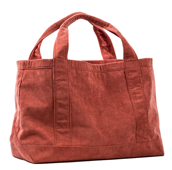 Rennie Tote in Red Corduroy