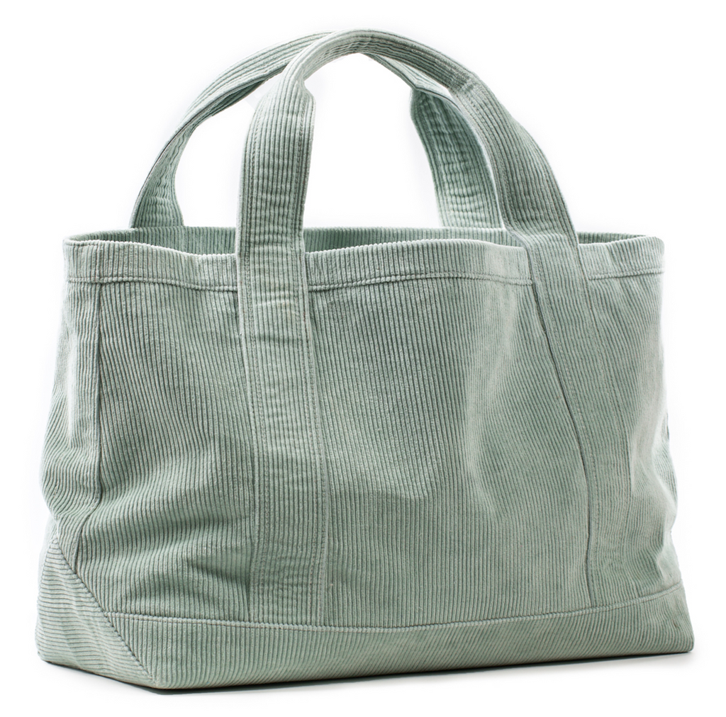 Rennie Tote in Green Corduroy