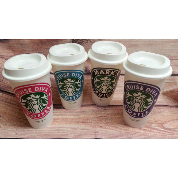 Starbucks Re-usable Travel Coffee Cup - Lady Phoenix Creations