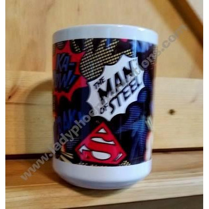 Coffee Mug Dye Sublimated -Man of Steel - Lady Phoenix Creations