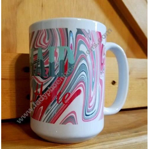 Coffee Mug Dye Sublimated - Mermaid spoken here - Lady Phoenix Creations