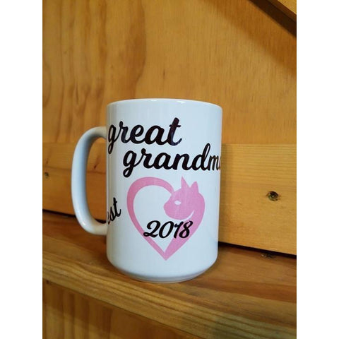 Coffee Mug Dye Sublimated - Great Grandma est 2018 - Lady Phoenix Creations